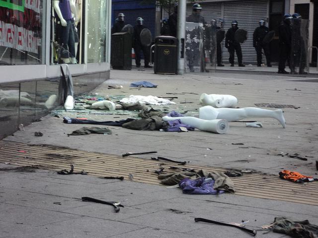 Disturbios en Londres // Foto Amanda Vincent-Rous (J@ck! en Flickr)