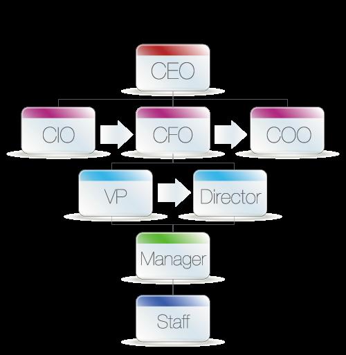 CIO-CEO-CFO-Jerarquia