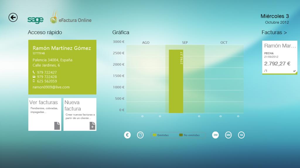 eFactura Online Sage Windows 8