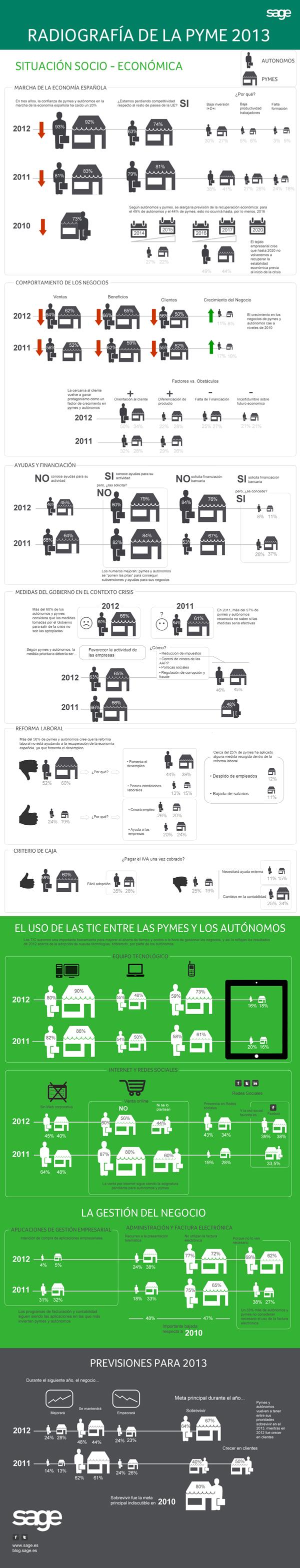 Infografía Radiografía de la Pyme 2013