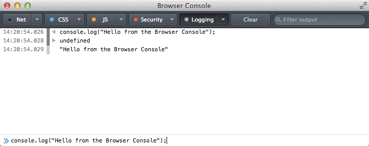Firefox-Browser-Console