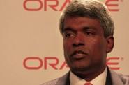 Thomas Kurian, vicepresidente ejecutivo de Desarrollo de Software en Oracle, durante el encuentro con los medios