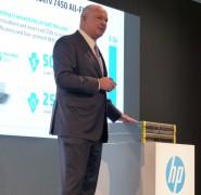 David Scott, vicepresidente y director general de HP Storage, durante la presentación de los nuevos sistemas de almacenamiento