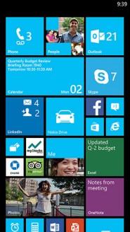 Aspecto del actual Windows Phone 8