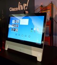 El sistema de Colaboración Cisco DX80 presentado por la compañía durante el Cisco Live! 2014