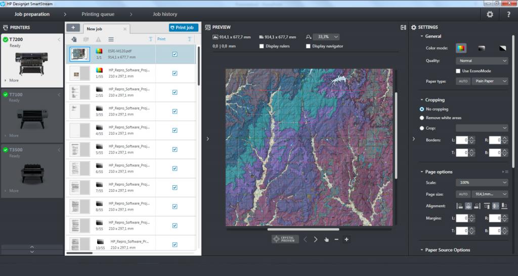 HP Designjet Smartstream se ha desarrollado para reducir los tiempos de gestión de todos los documentos y trabajos de impresión