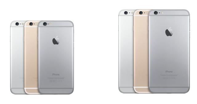 Los iPhone 6 y 6 Plus en su variedad de colores.