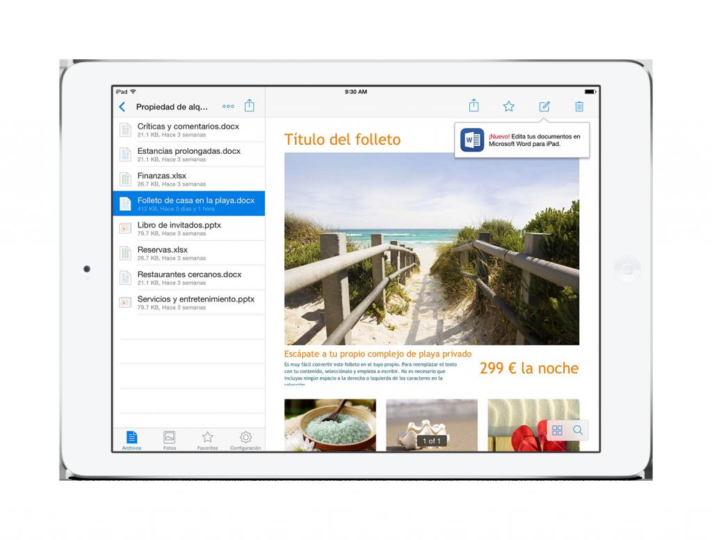 Modifica archivos de Office desde la aplicación de Dropbox para móviles