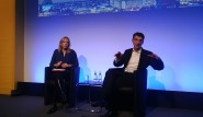 Bernd Leukert, miembro de la mesa ejecutiva de SAP SE, Products & Innovations, en un momento de la sesión de Q&A con la prensa europea