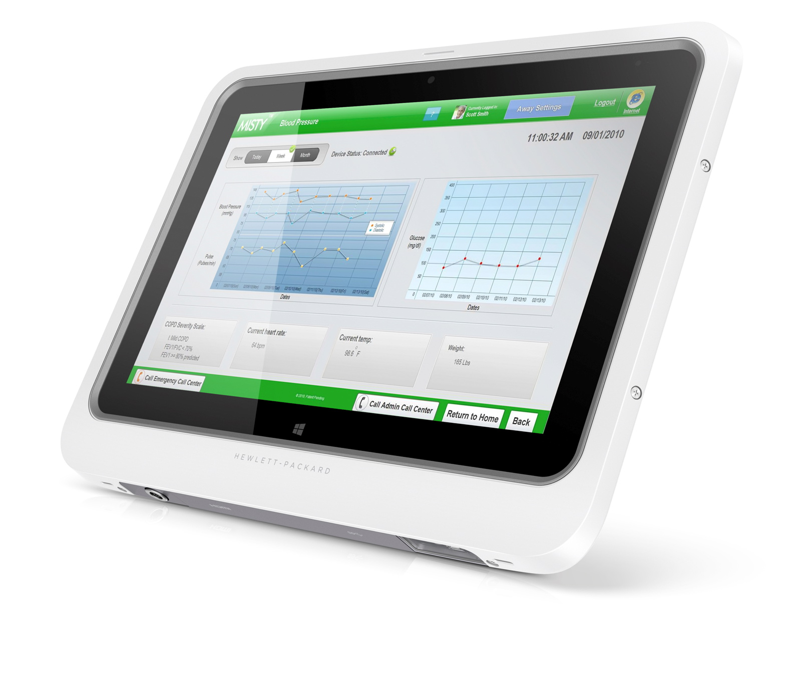 HP ElitePad 1000 Healthcare Solution Front