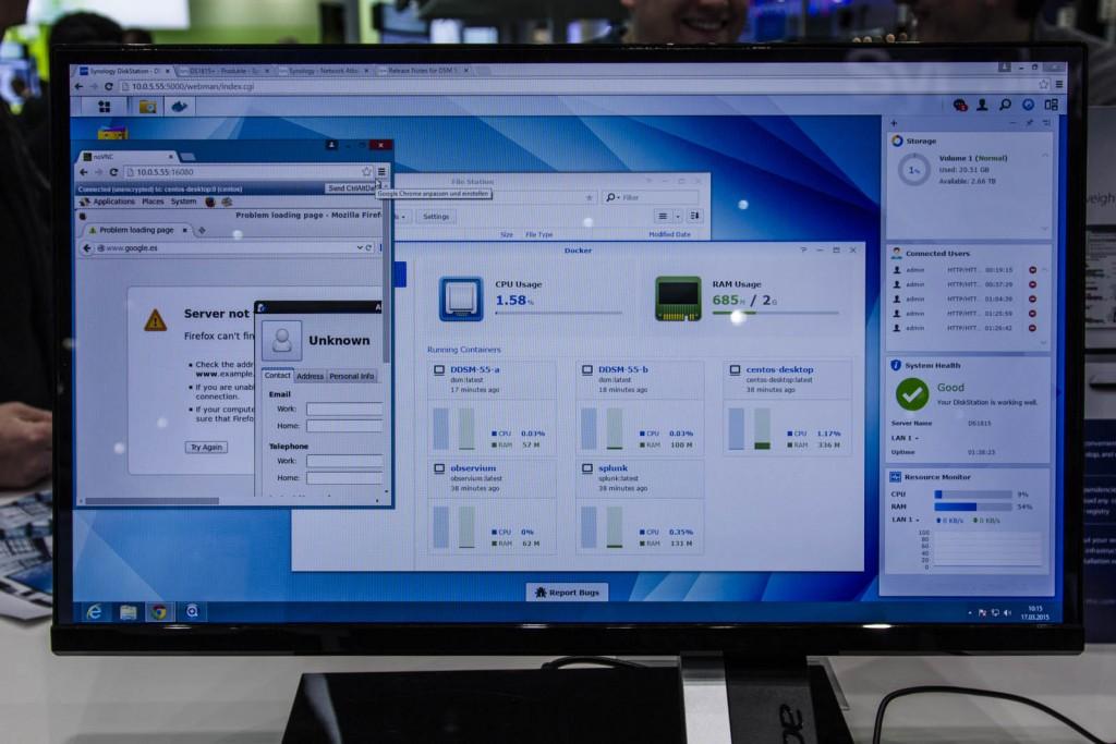 Docker es una de las principales novedades de DSM 5.2 beta. Permite instalar aplicaciones paquetizadas en repositorios online, añadiendo funcionalidades más allá del ecosistema de aplicaciones de Synology.