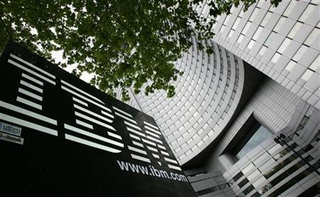 A view of IBM headquarters at la Defense in Paris, France.