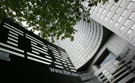 A view of IBM headquarters at la Defense in Paris, France.