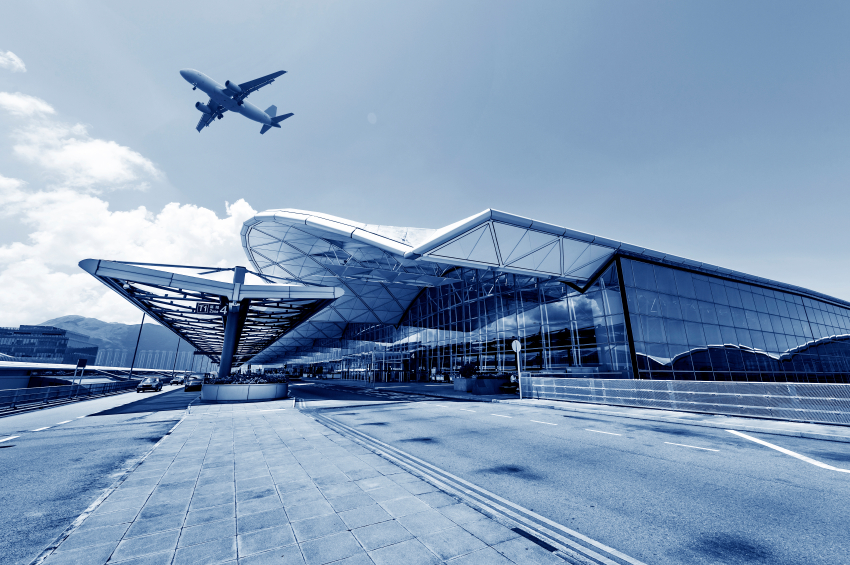 the scene of airport building in china