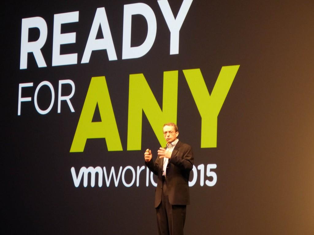 Pat Gelsinger, CEO de VMware, durante su intervención en el VMworld 2015