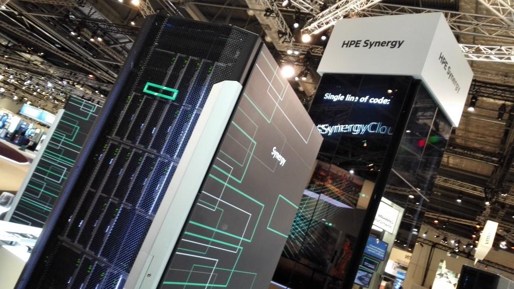 Aspecto que muestra la plataforma Synergy en esta edición de HPE Discover que se celebra en Londres