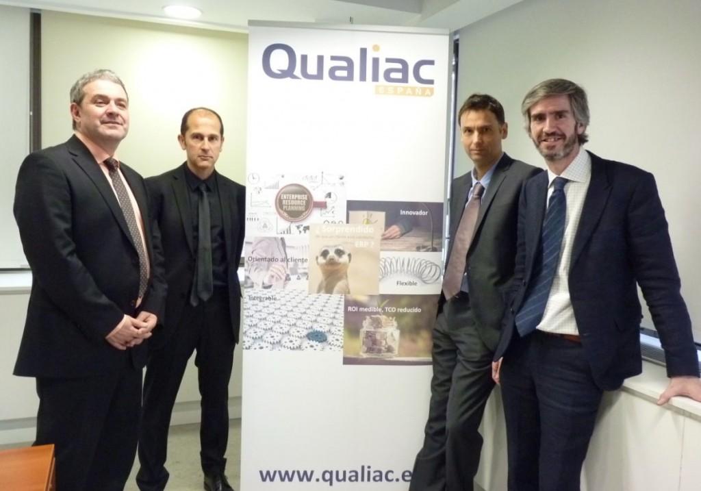 El equipo directivo con el que Qualiac arranca sus operaciones en España. Johann Caillaud, segundo por la derecha.