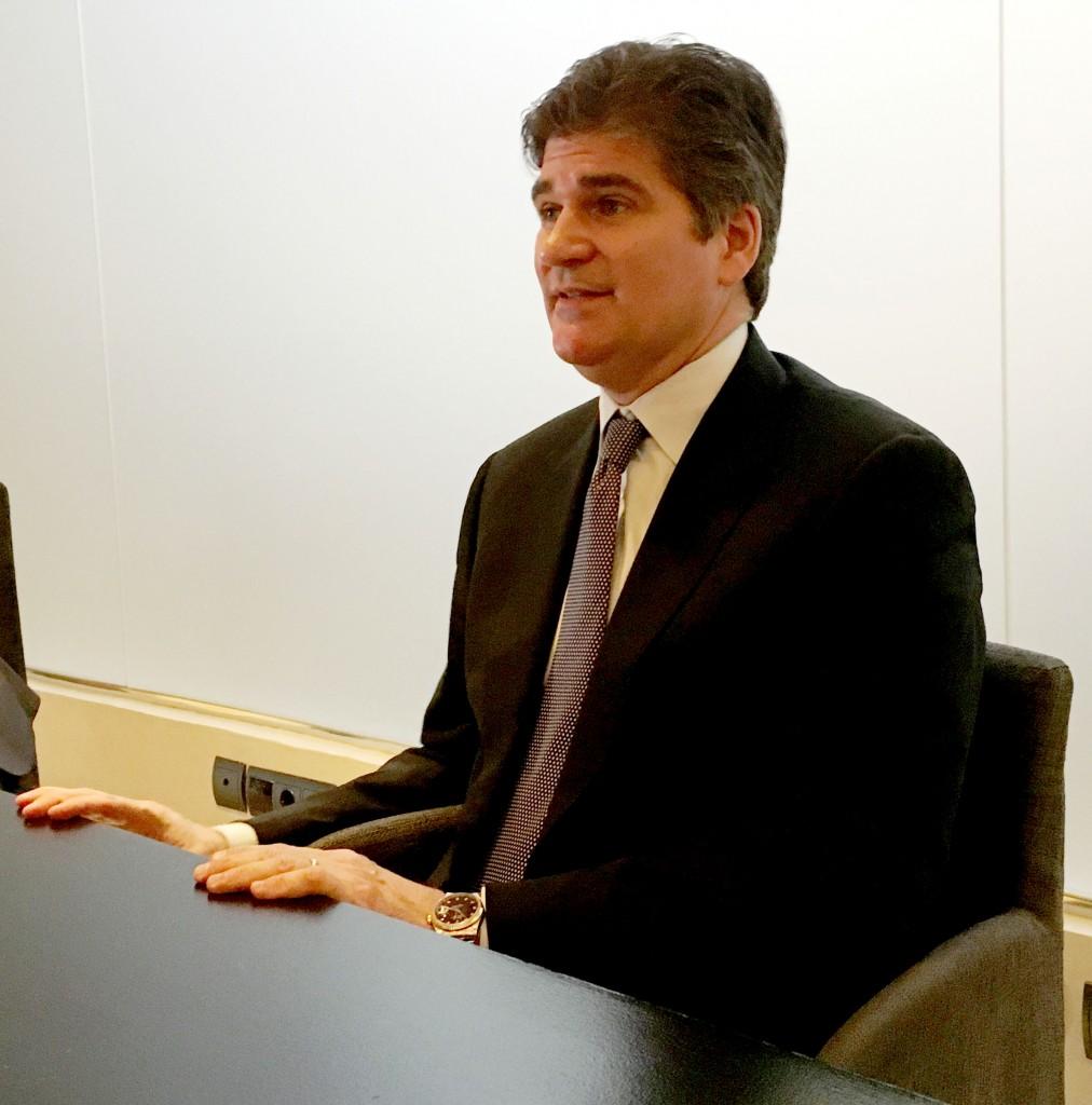 Chris O´Malley, CEO de Compuware, en un momento de la entrevista que concedió a Silicon