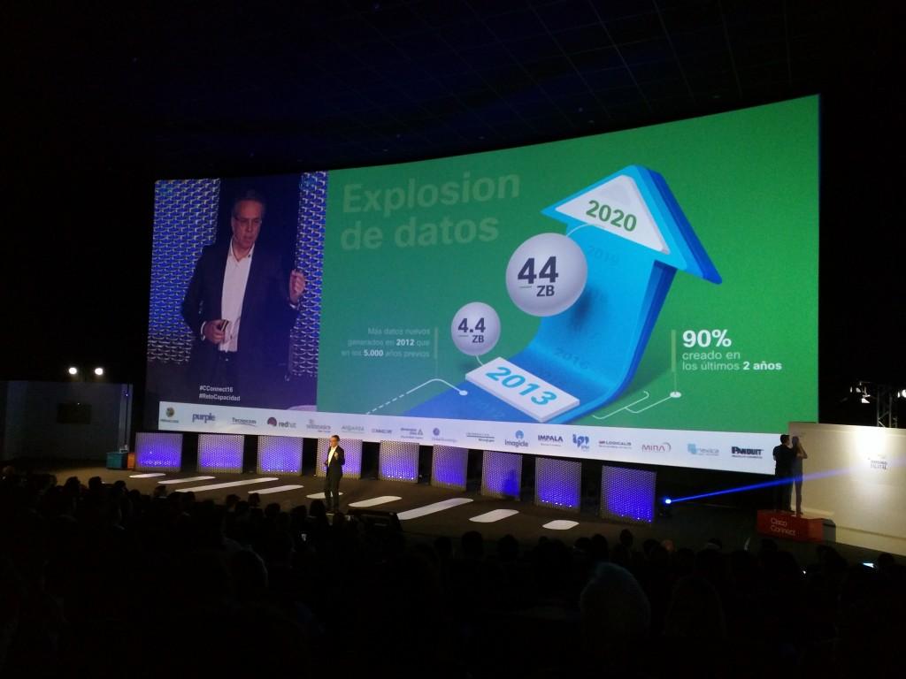 José Manuel Petisco, director general de Cisco España, aseguraba que los datos generados en el mundo se habrán multiplicado por 10 entre 2013 y 2020
