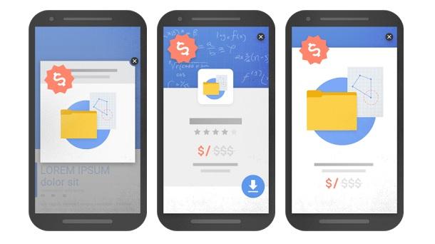 Ejemplos de los pop ups e intersitials que Google considerará penalizables