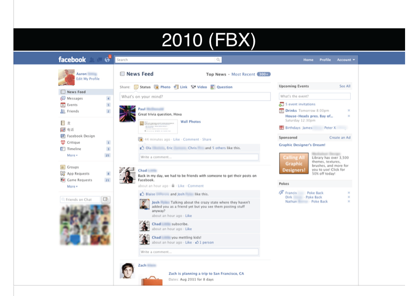 Facebook 2010 (News Feed)