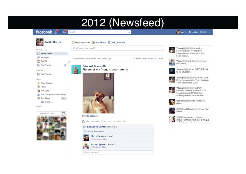 Facebook 2012 (News Feed)