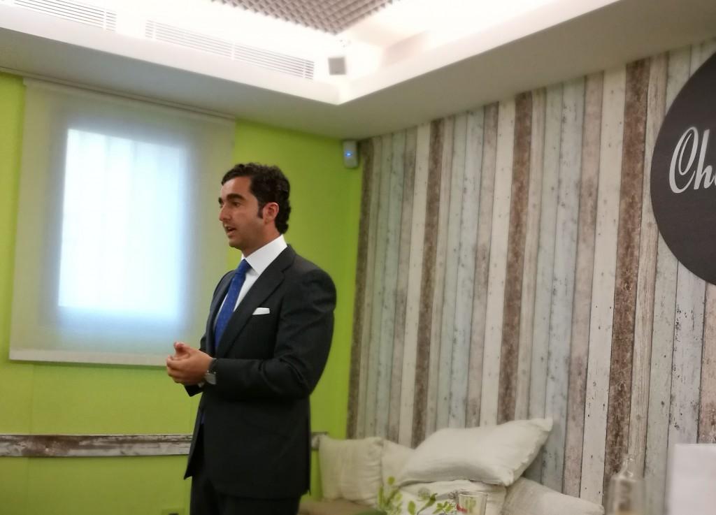 Moisés Camarero, director general del Grupo Compusof, durante el encuentro con los medios