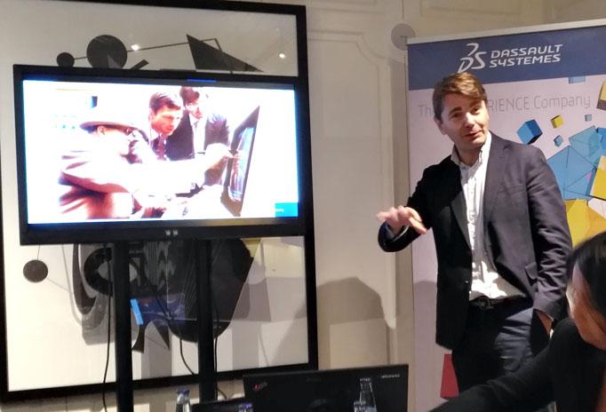 Nicolas Loupy, director general de Dassault Systèmes para Iberia, en un momento de la presentación de SOLIDWORKS 2017