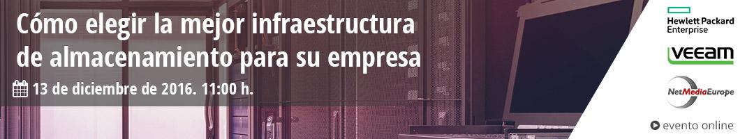 Evento online: Cómo elegir la mejor infraestructura de almacenamiento para su empresa