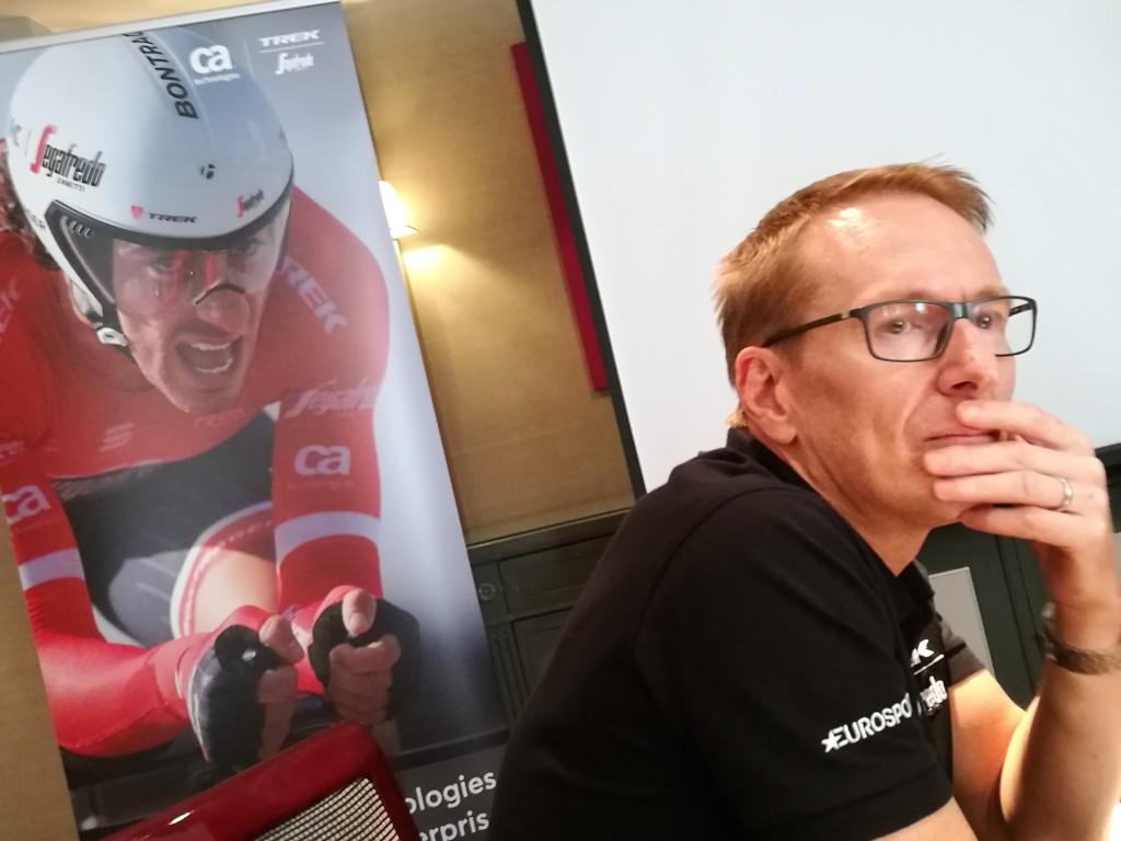 Peter Simpson, vicepresidente de Marketing de CA Technologies para EMEA, en el encuentro que tuvimos durante la etapa final de La Vuelta