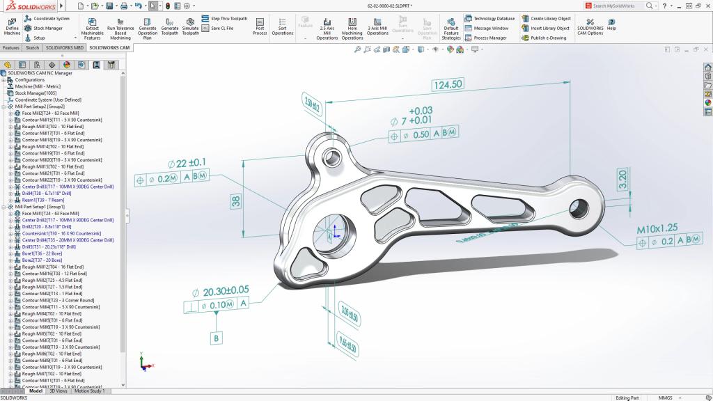 Con SOLIDWORKS CAM se obtiene mucha más información de las piezas para poder automatizar futuros diseños