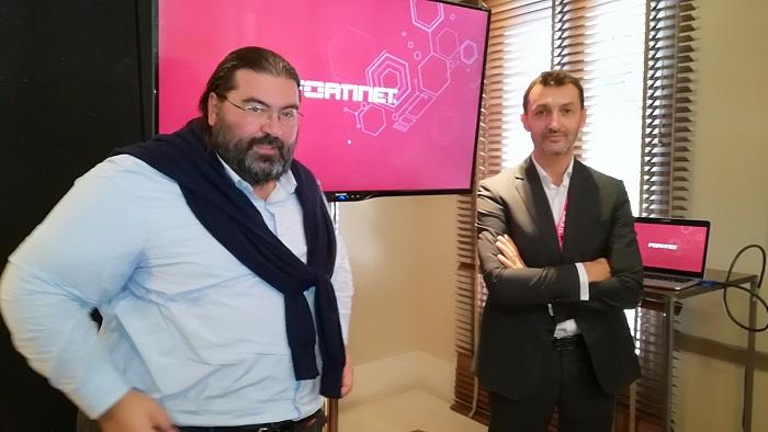 Filippo Cassini y Acacio Martín, en el Fortinet Security Day.