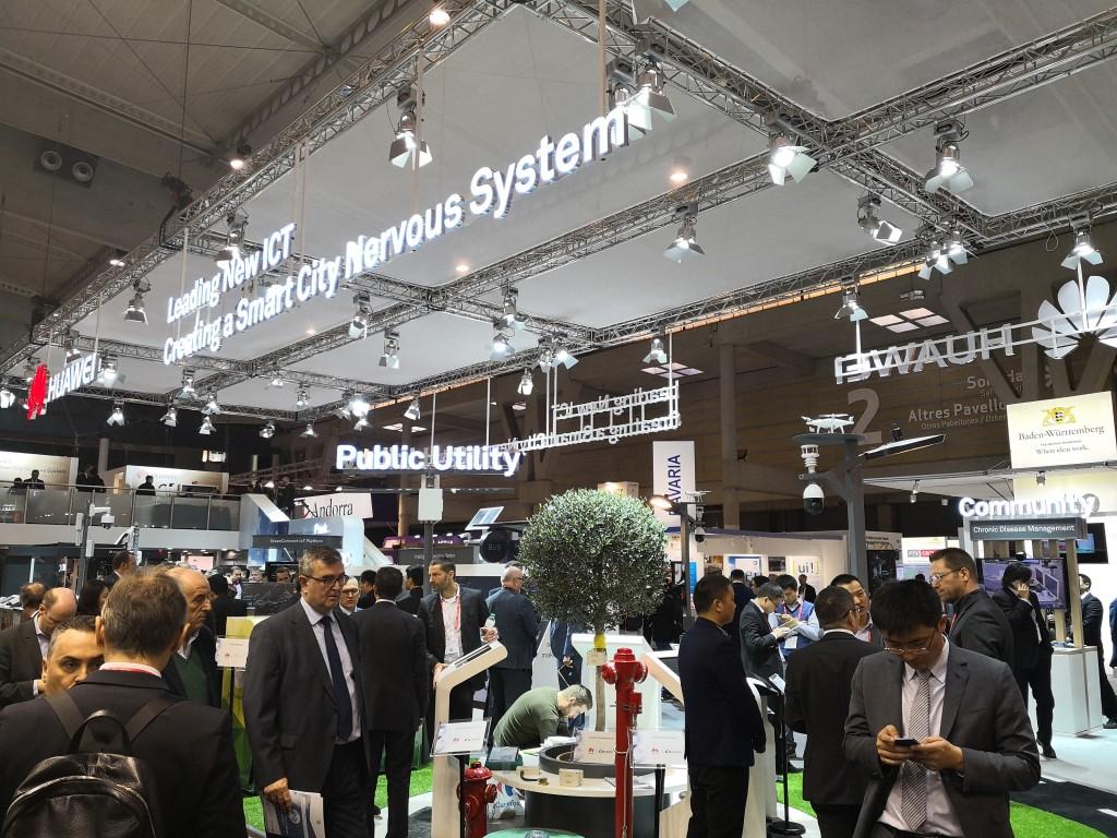 El stand de Huawei en el congreso