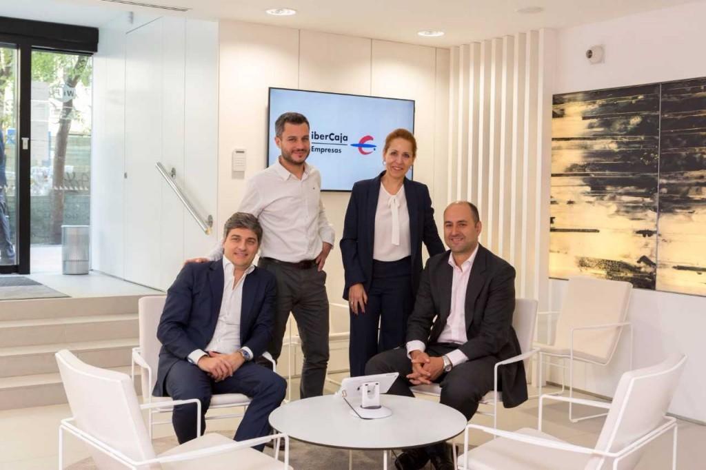 Responsables del proyecto de la alianza entre Ibercaja y Microsoft
