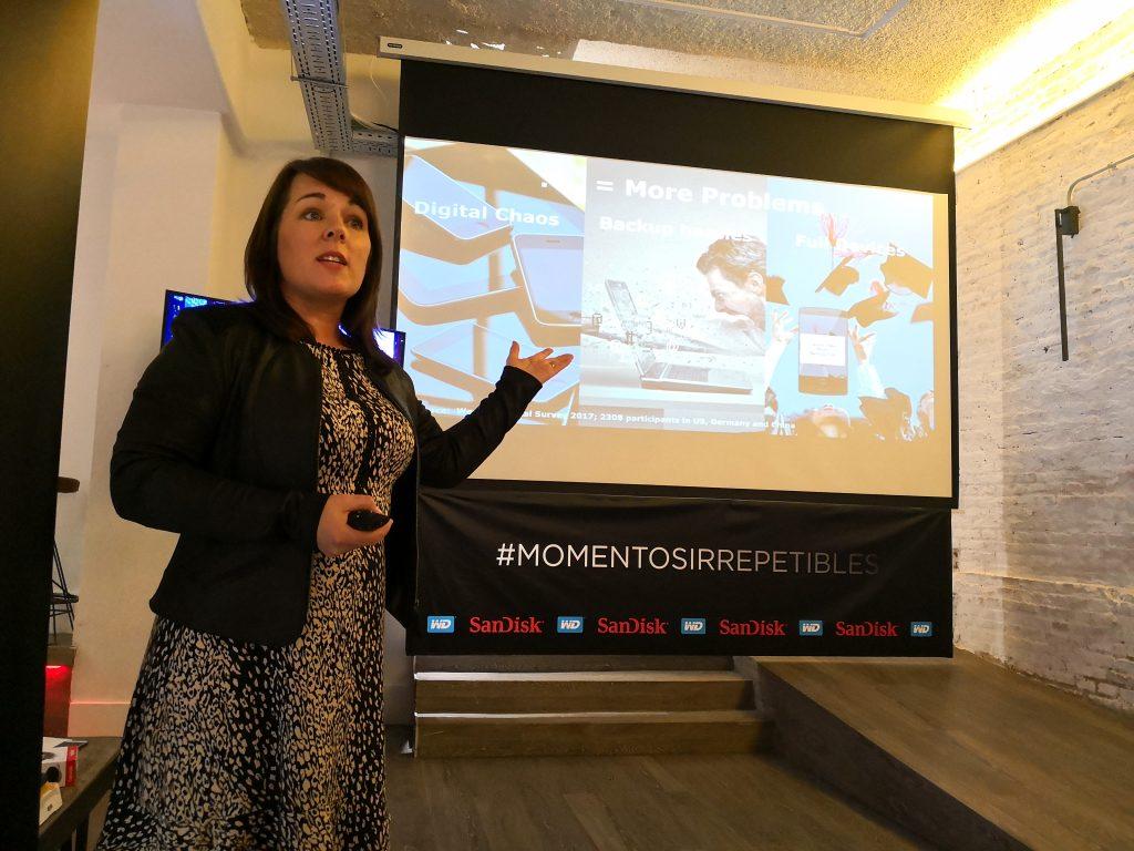 Patricia Corcoran, directora de Marketing de Producto para EMEA de SanDisk