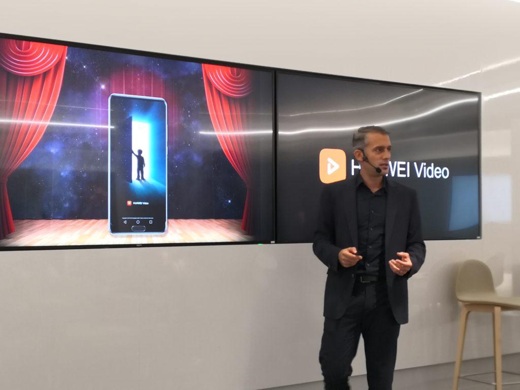 Jaime Gonzalo, VP Consumer Mobile Services de Huawei en Europa, durante la presentación de la nueva plataforma de vídeo